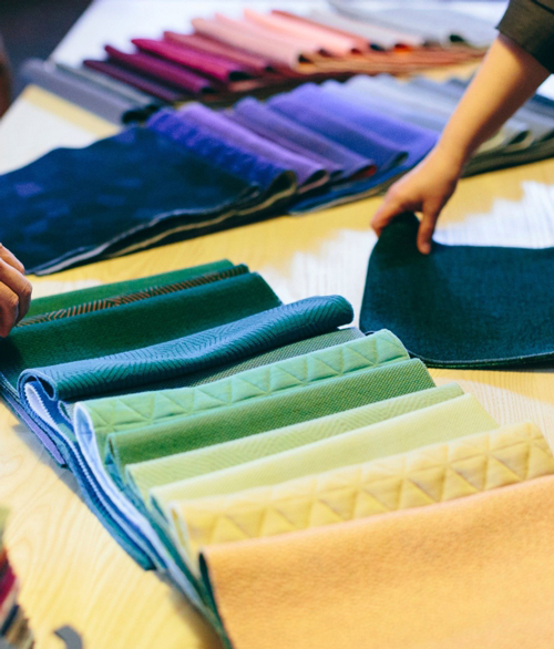 Wide range of fabrics and textile